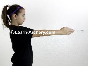 Measuring an arrow to be cut