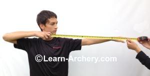 Measuring for arrow length