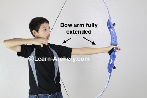 Bow-arm fully extended