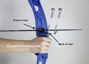Marking arrow at full draw